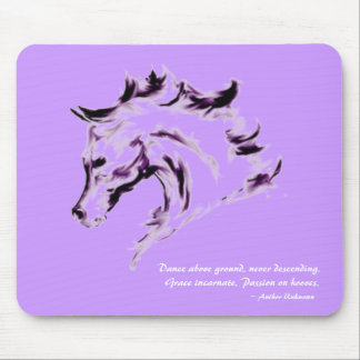 Horse Illustration Mousepad - Dance Quote