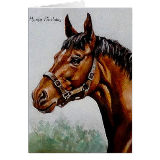 Horse image for birthday greeting card