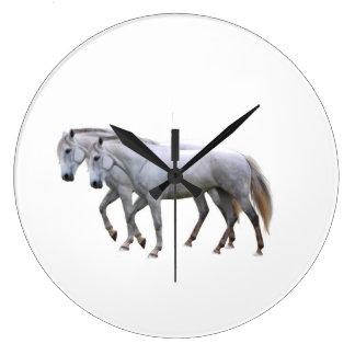 Horse image for Round-Large-Wall-Clock Wallclock