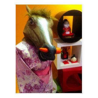Horse In A Kimono Postcard