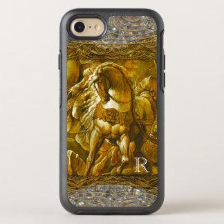 Horse in Battle Pretty Monogram OtterBox Symmetry iPhone 7 Case