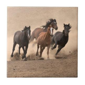 Horse In Fall II Tile