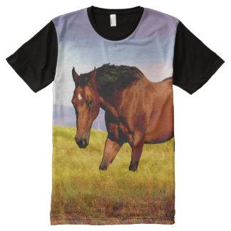 Horse in high grass