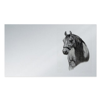Horse in Pencil: Business Card, Equine Standard Business Cards