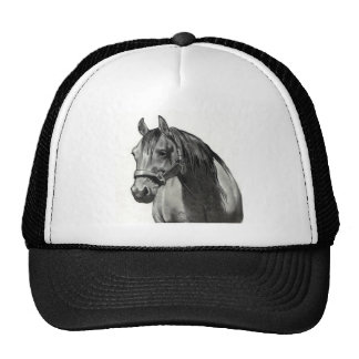 HORSE IN PENCIL: FRONT VIEW TRUCKER HAT