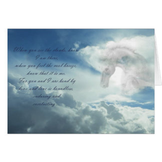 Horse in the clouds sympathy card