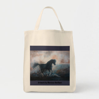 Horse in the Haze Grocery Tote Shopping Bag