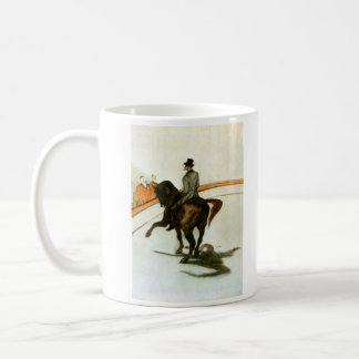 Horse in the Ring by Toulouse-Lautrec Basic White Mug