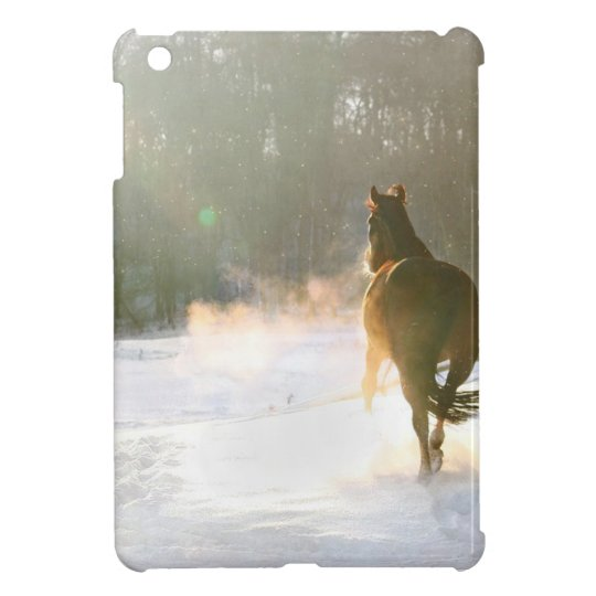 Horse in the snow iPad mini cases