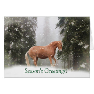 Horse in the Snow Season's Greeting Card