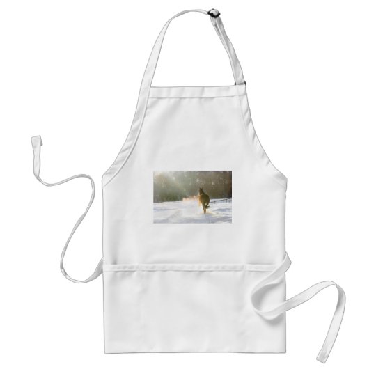 Horse in the snow standard apron