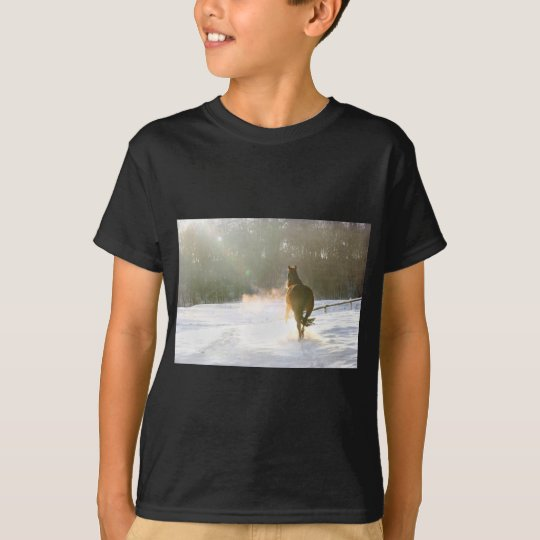 Horse in the snow T-Shirt