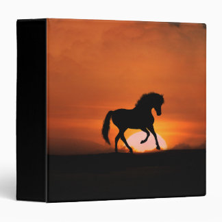 Horse in the Sunset 3 Ring Binder