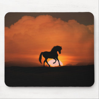 Horse in the Sunset Mouse Pad