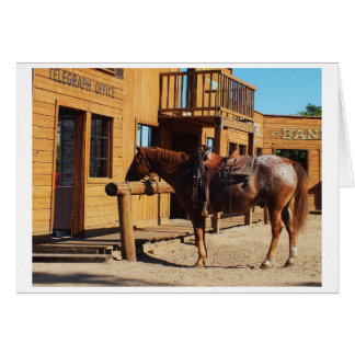 Horse in the wild west, USA Card