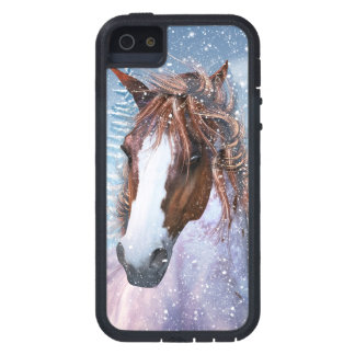 Horse In The Winter Snow iPhone Case