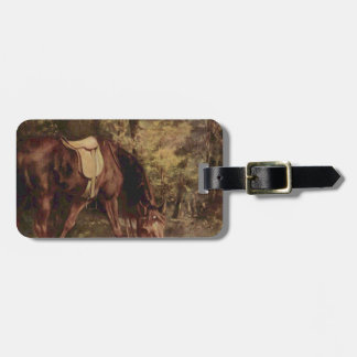 Horse in the Woods by Gustave Courbet Luggage Tag