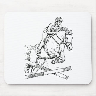 Horse Jumping Mouse Pads
