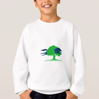Horse Jumping Through Oak Tree Retro Sweatshirt