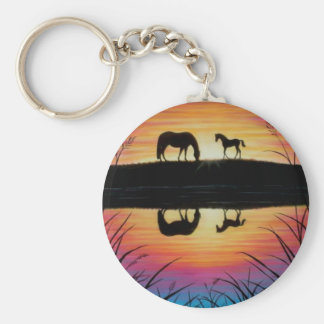 horse keychain - reflection