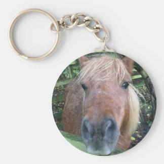 Horse keyring basic round button keychain