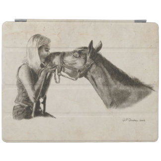 Horse Kisses Artwork iPad Cover