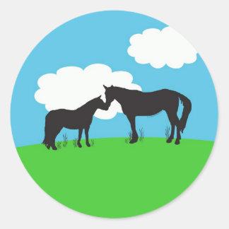 Horse Kisses Sticker