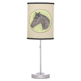 Horse Lamp- tan Table Lamp