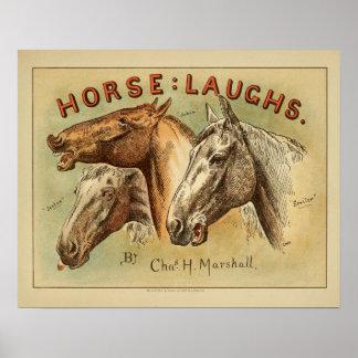 Horse Laughs Vintage Color Cover Art Print