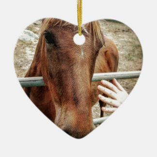 Horse Life Ceramic Heart Ornament