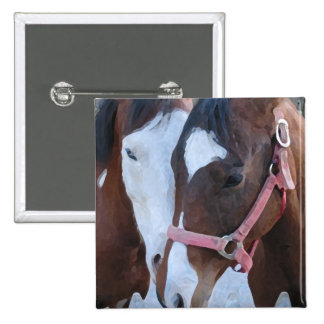Horse Love 2 Inch Square Button