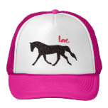 Horse, Love and Hearts Mesh Hats