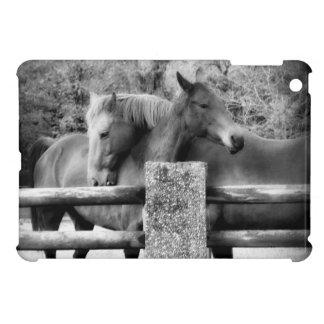 Horse Love Hugging Horse Couple iPad Mini Cover