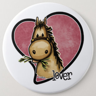 Horse Lover 6 Inch Round Button