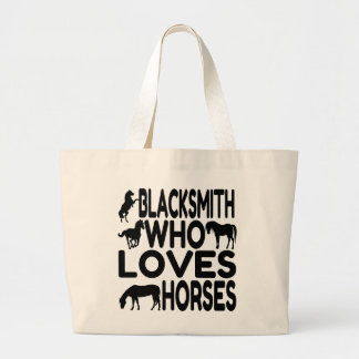 Horse Lover Blacksmith Large Tote Bag