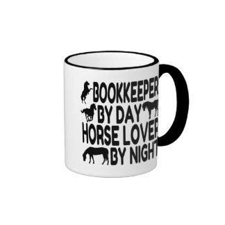 Horse Lover Bookkeeper Mugs