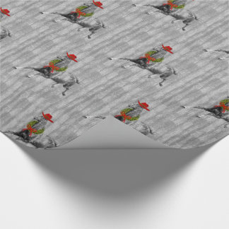 Horse Lover Country Western Christmas Barn Wood Wrapping Paper