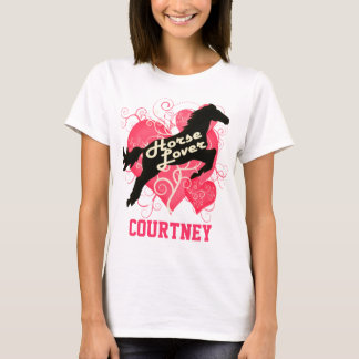 Horse Lover Personalized Courtney T-Shirt