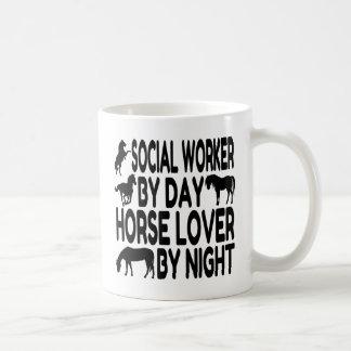 Horse Lover Social Worker Basic White Mug