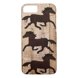Horse Lovers Cowboy Rustic Wood iPhone 7 case