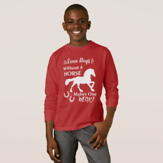 Horse Lovers Funny Quote Graphic T-Shirt
