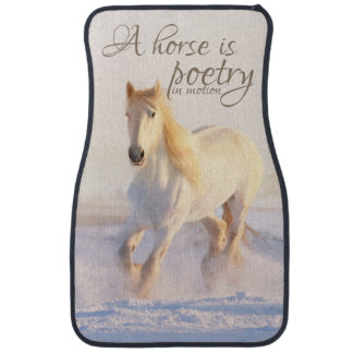 Horse Lovers Quote Poetry in Motion Winter Snow Car Mat