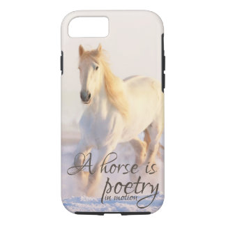 Horse Lovers Quote Poetry in Motion Winter Snow iPhone 8/7 Case