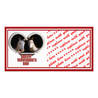 Horse Lovers Valentine Photo Greeting Card