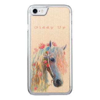 Horse Lover's Wood iPhone 7 Custom Cover