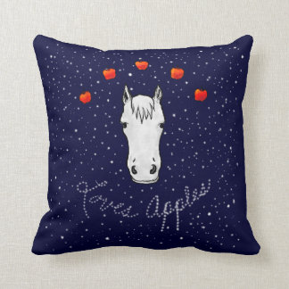 Horse Loves Apples Equine Therapy Throw Pillow