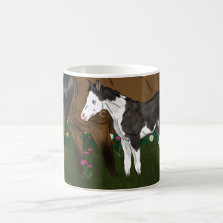 Horse Mare and Paint Foal Coffee Mug