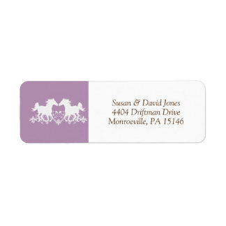 Horse modern silhouette floral return address label