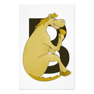 Horse Monogram Letter B Photo