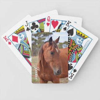Horse Monogram Poker Deck